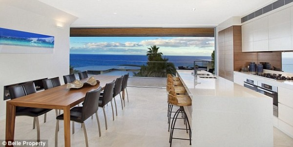 Jennifer Hawkins' North Curl Curl home - the ideal office!